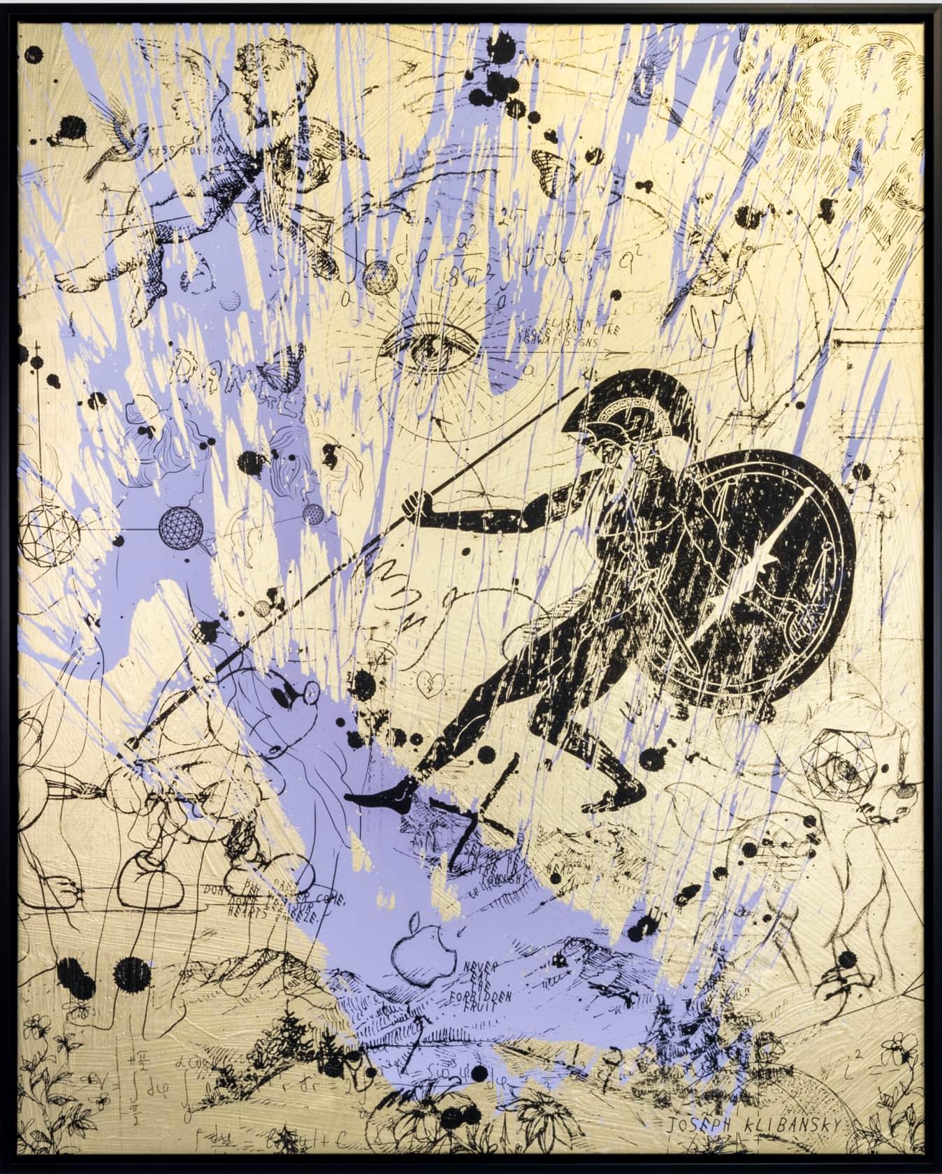 Joseph Klibansky Into My Heart Silkscreen and Acrylic on Canvas