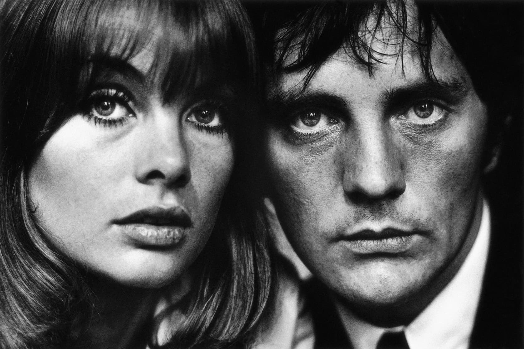 Terry O'Neill Jean Shrimpton and Terence Stamp, London Lifetime Gelatin Silver Print