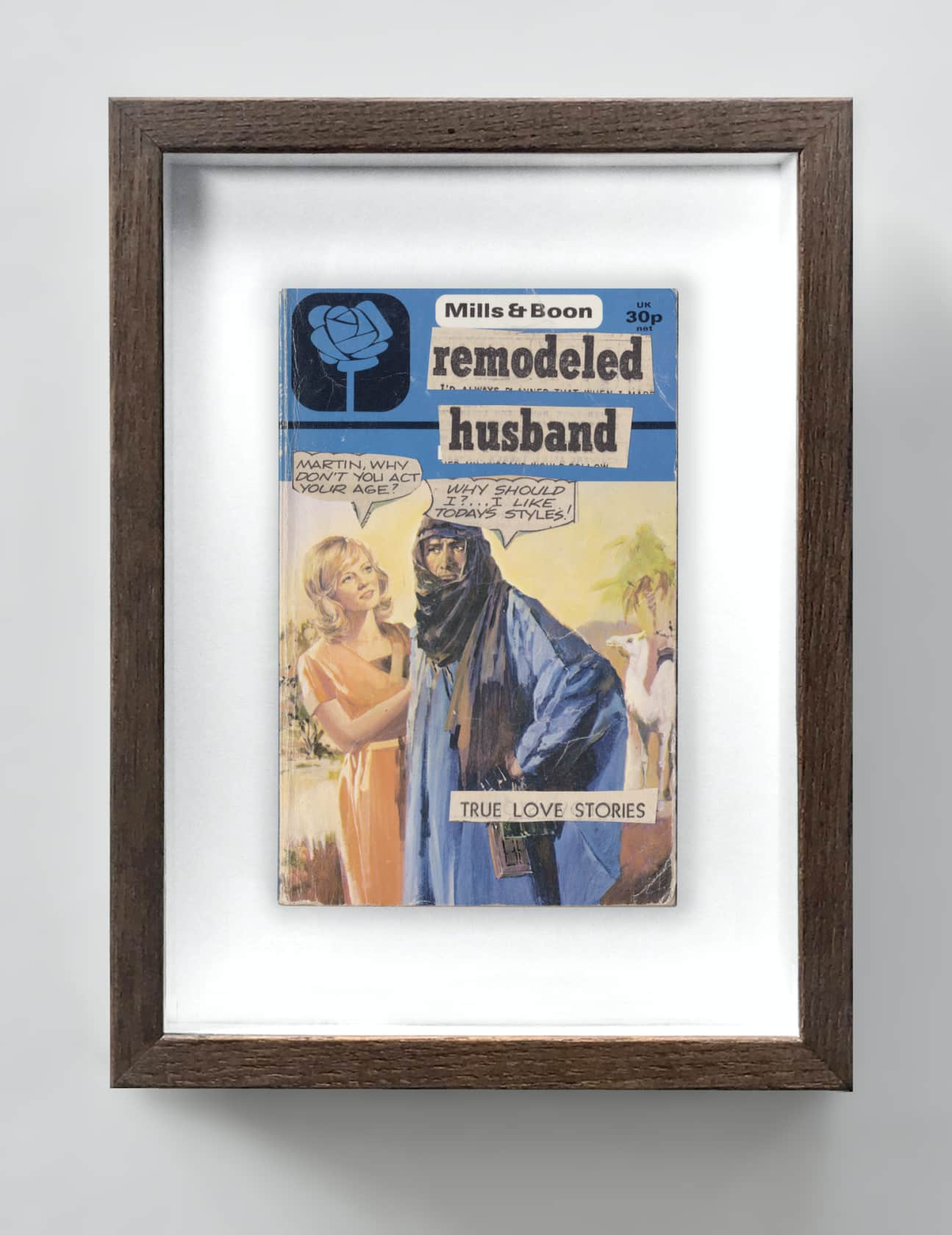the connor brothers Remodeled Husband Collage on vintage paperback book