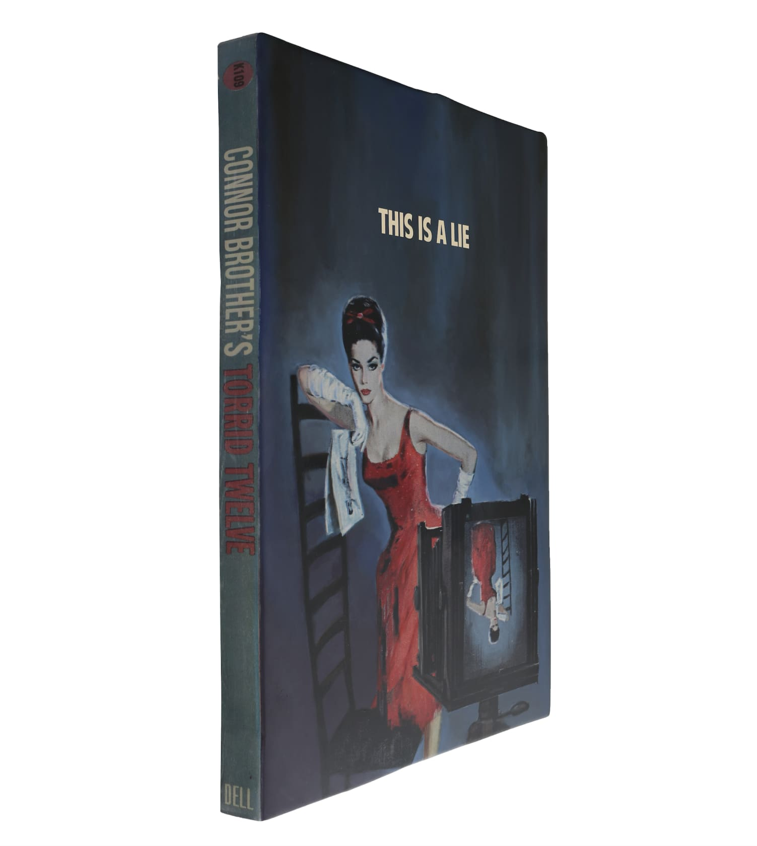 the connor brothers This Is A Lie Hand painted wooden book with silkscreen