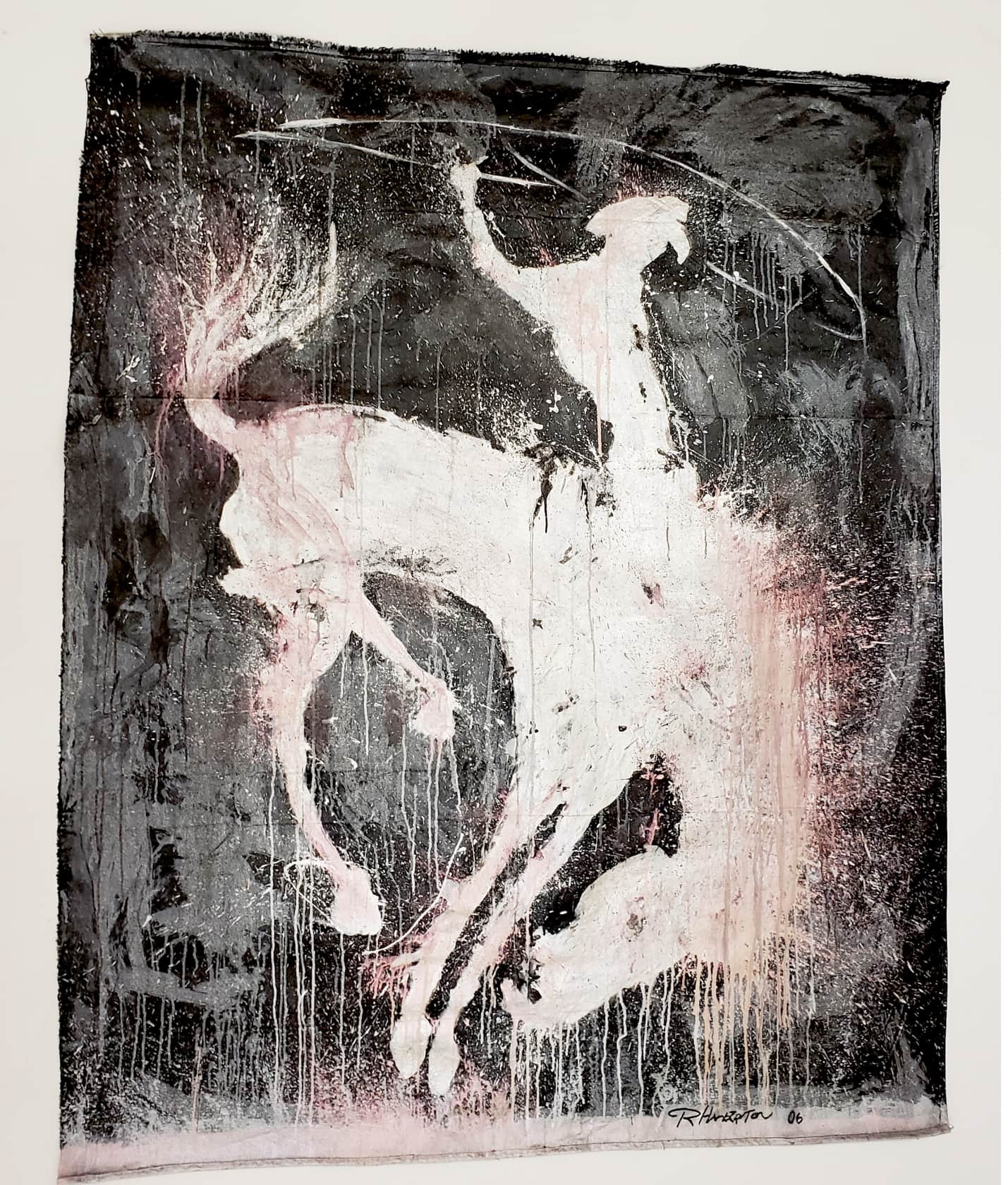 Richard Hambleton Horse & Rider Acrylic on Canvas