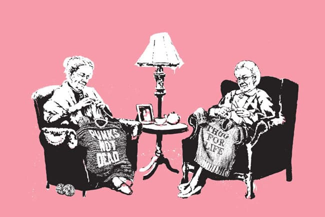 Banksy, Grannies (Signed), 2006