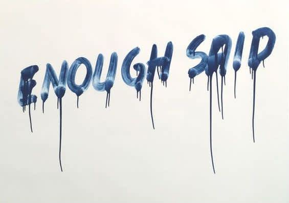 Mel Bochner, Enough Said, 2014