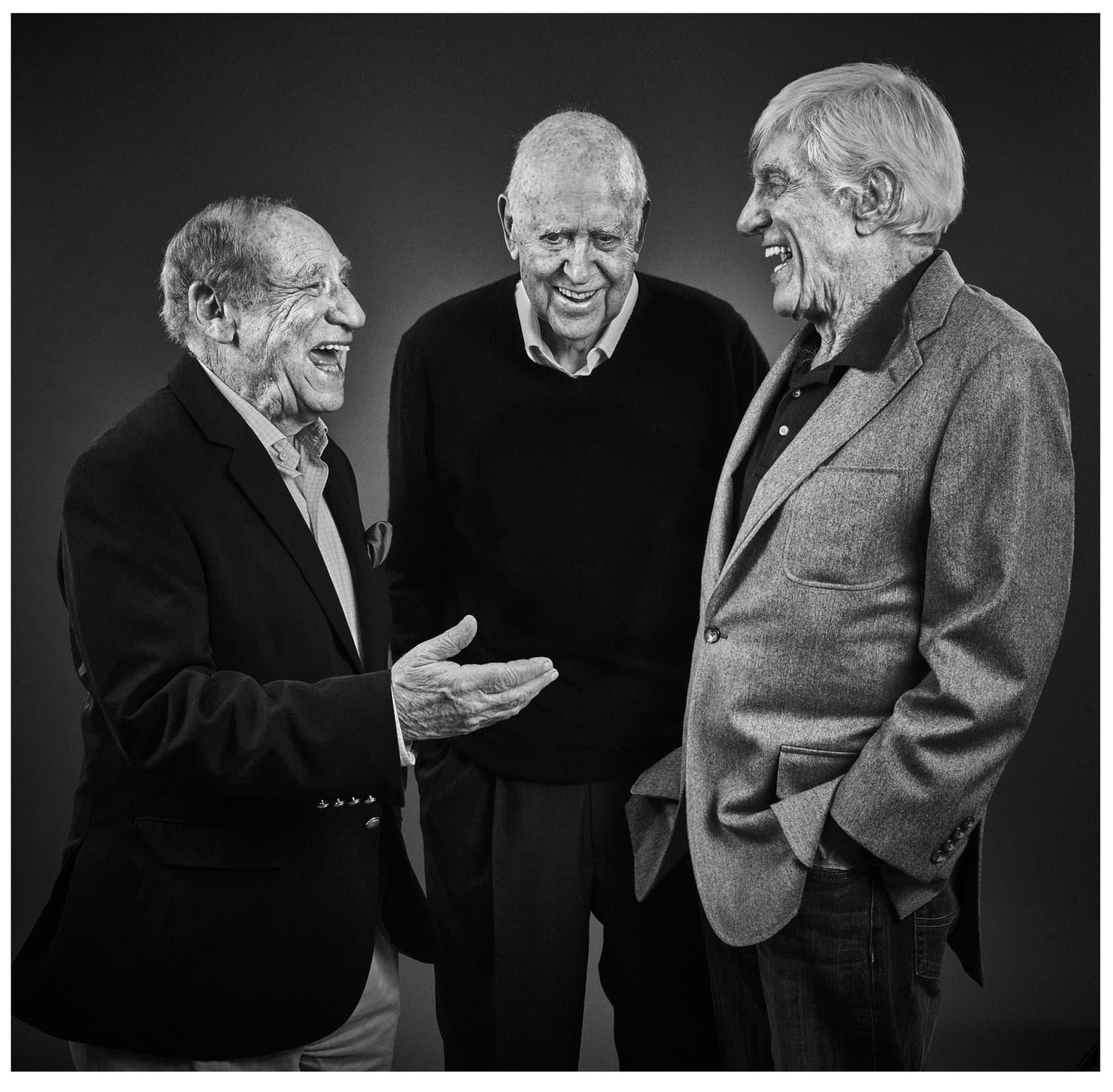 Andy Gotts Mel Brookes, Carl Reiner, Dick Van Dyke Fine Art Giclée Archival Print