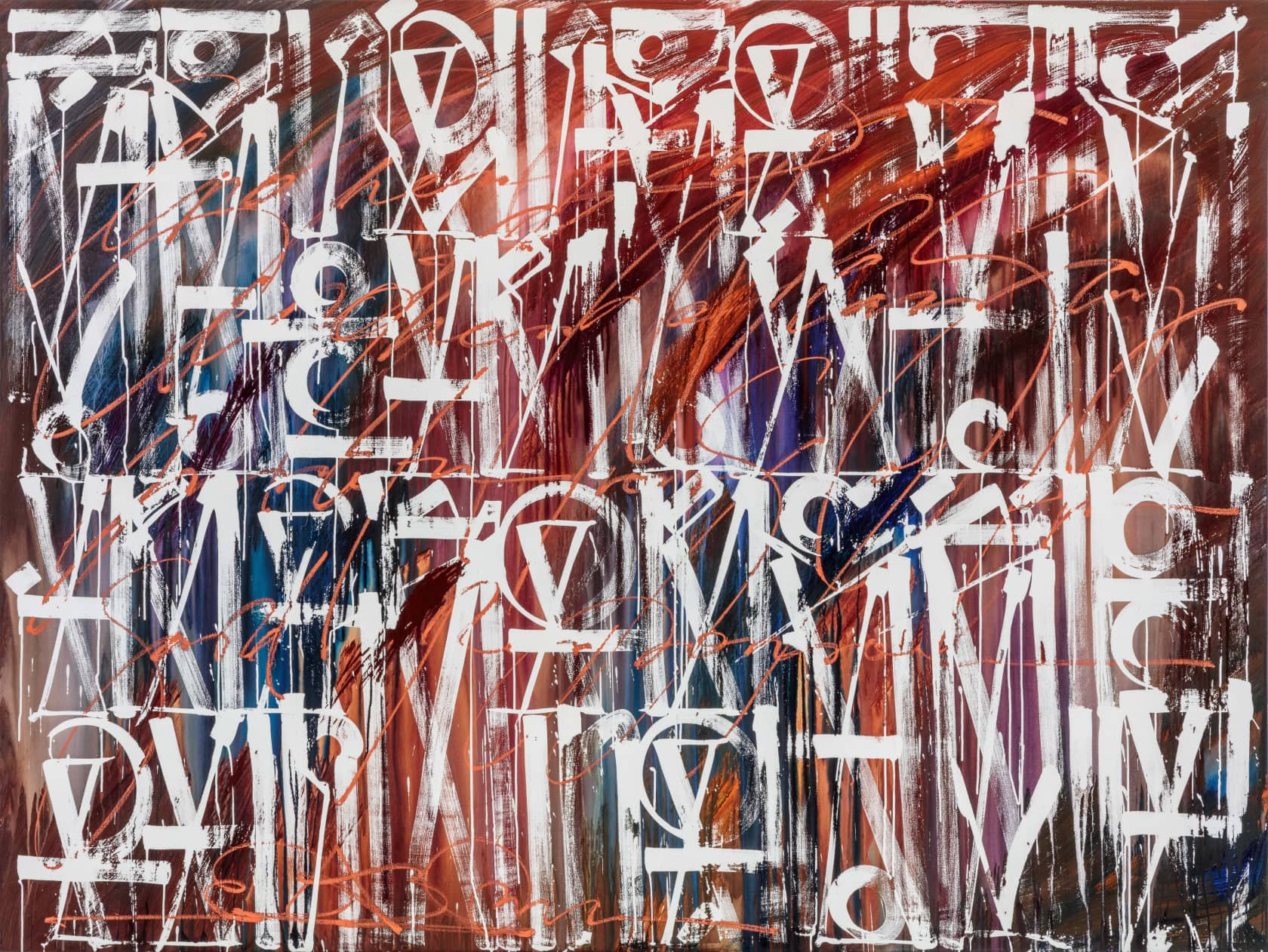 Retna Send Me a Letter Acrylic on Canvas