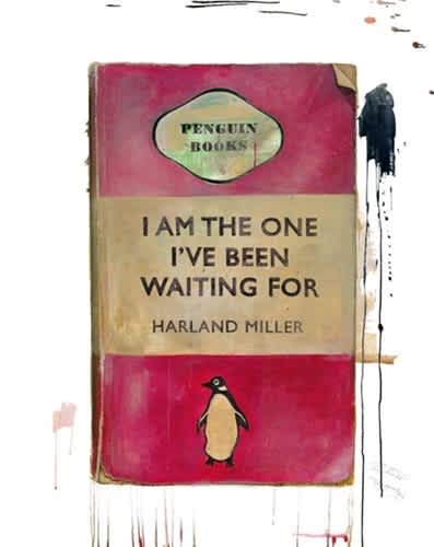 Harland Miller I Am The One I've Been Waiting For Oil on Giclée