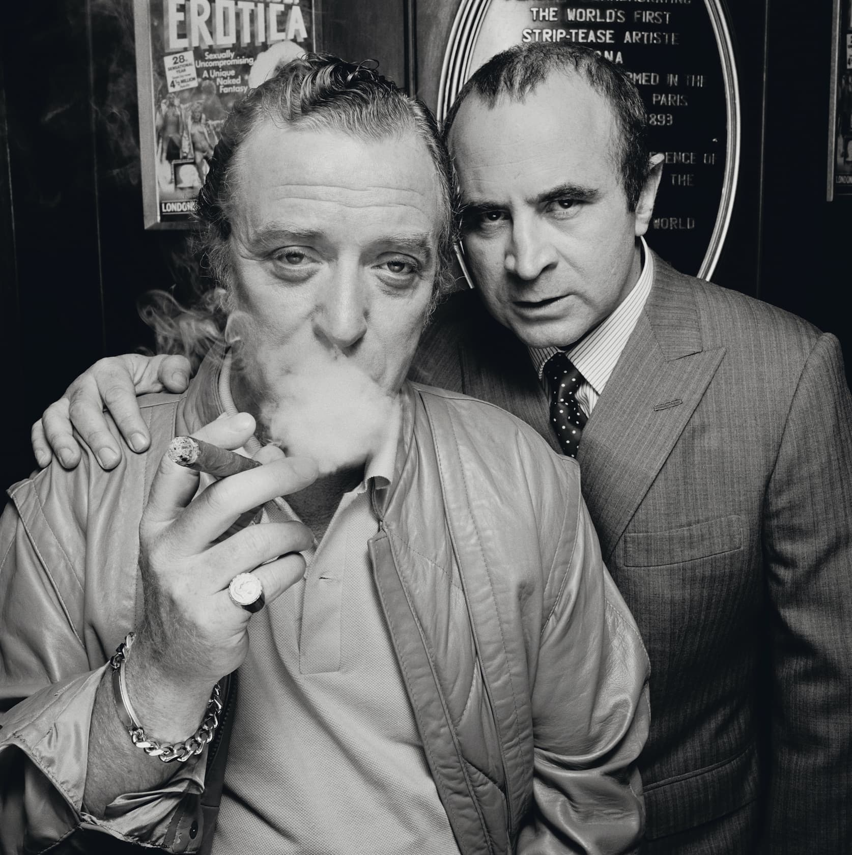 Terry O'Neill Bob Hoskins and Michael Caine, London Lifetime Gelatin Silver Print