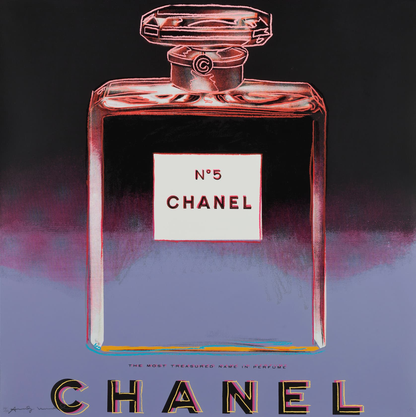 Andy Warhol Chanel (from Ads) Screenprint in Colours