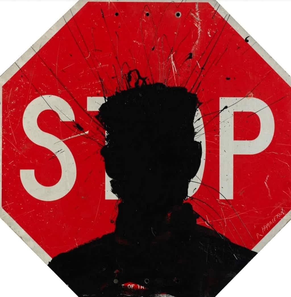 Richard Hambleton, Stop Sign, 2018