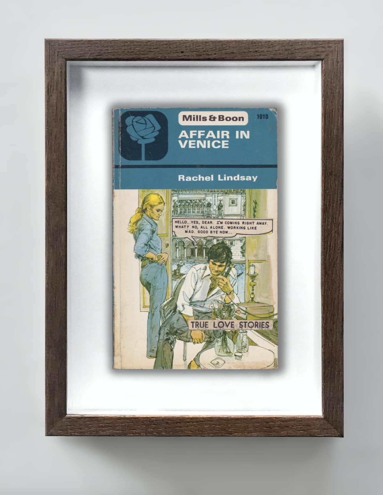 the connor brothers Working Like Mad Collage on vintage paperback book