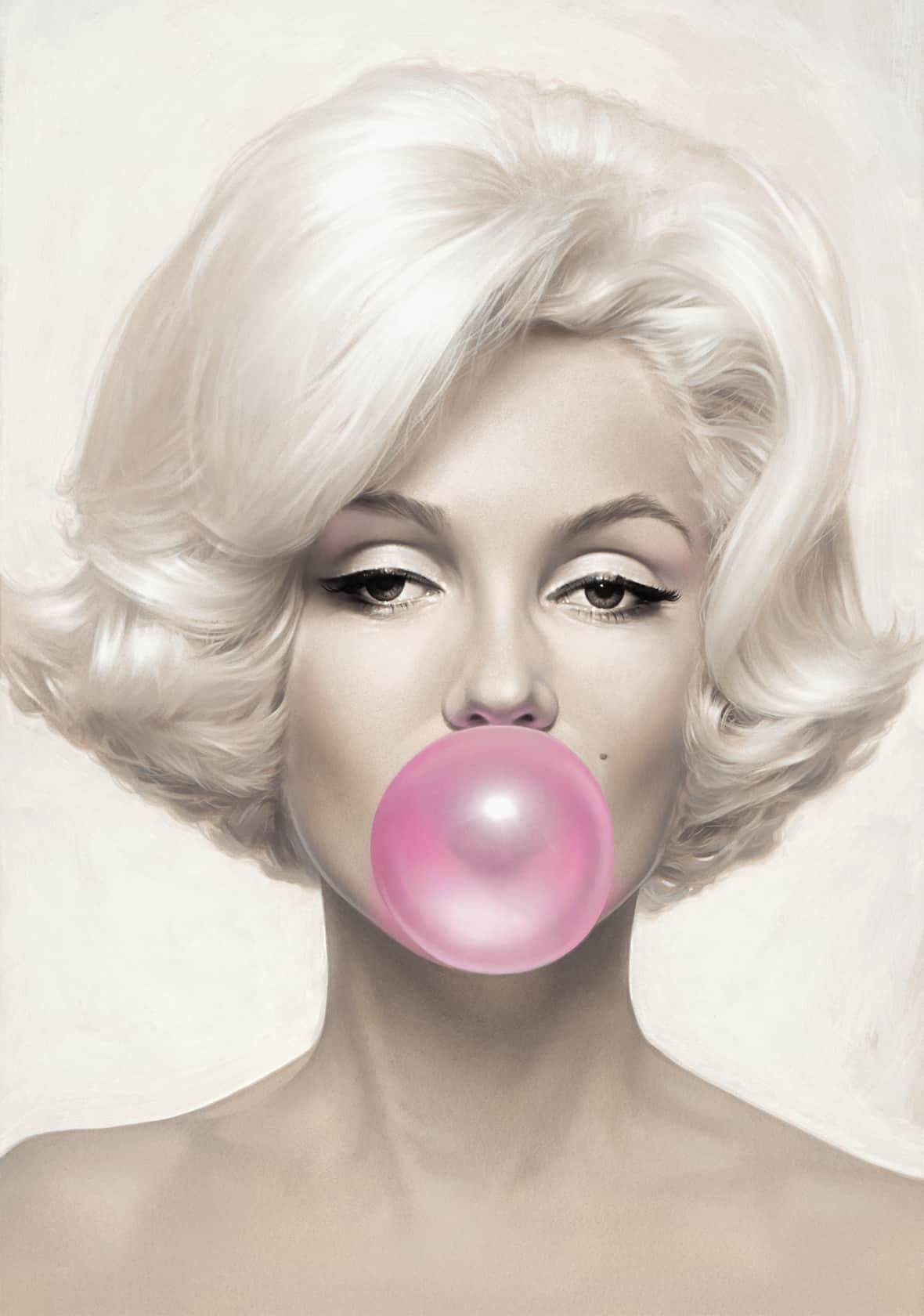 Michael Moebius, Marilyn Monroe Pink Bubblegum, 2015