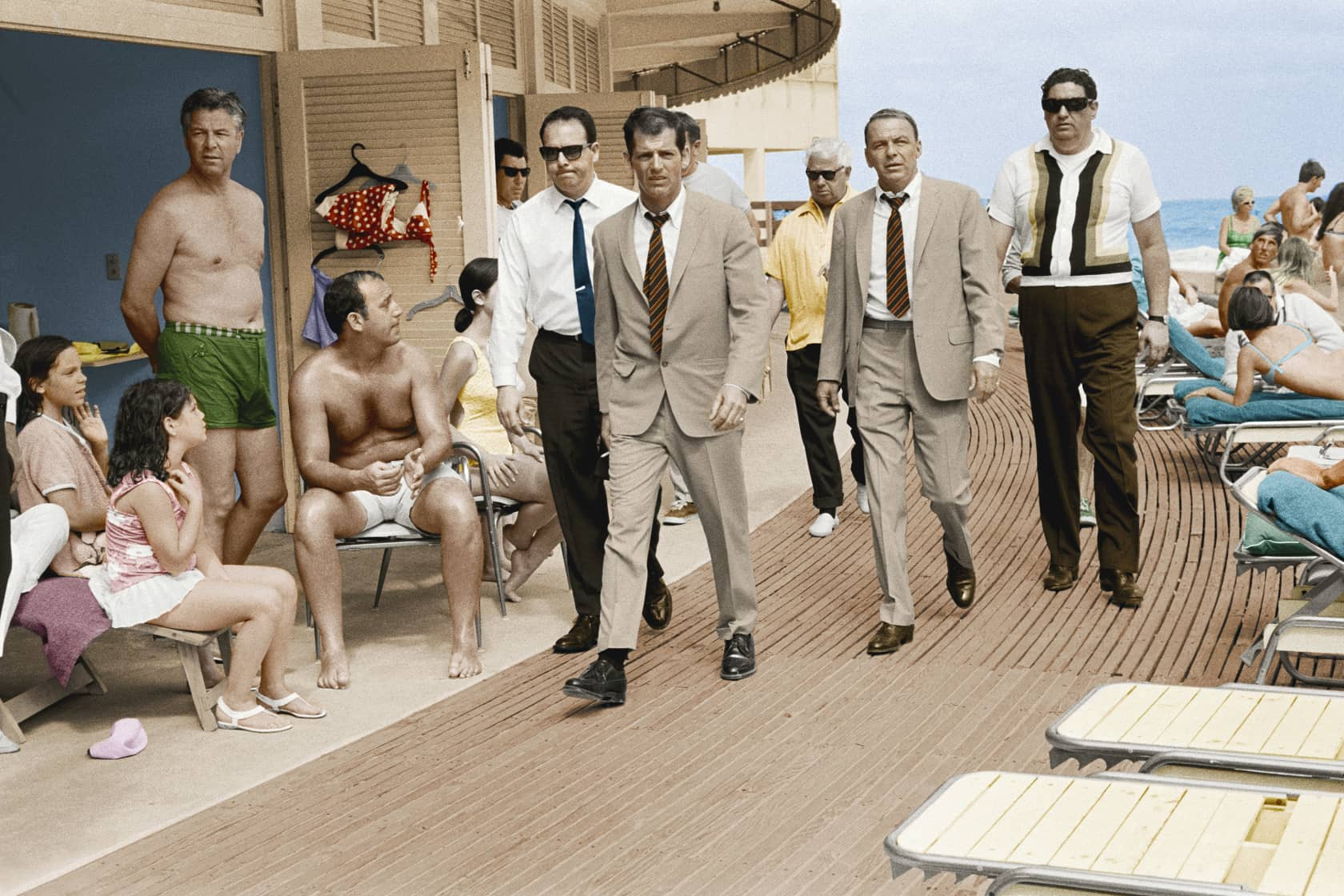 Terry O'Neill Frank Sinatra, Miami Boardwalk - Colour Posthumous C-Type Print