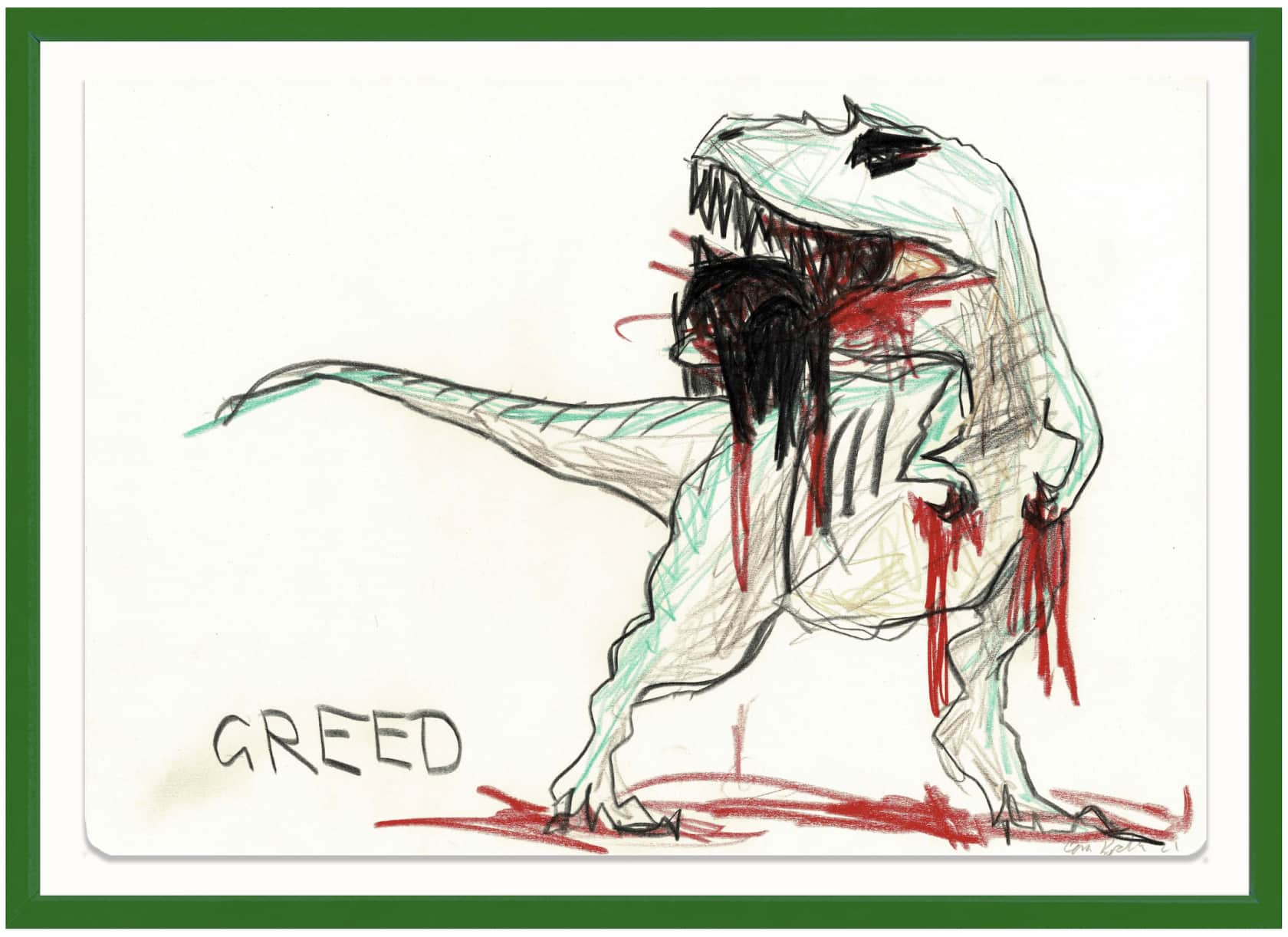 the connor brothers Greed Crayon on paper