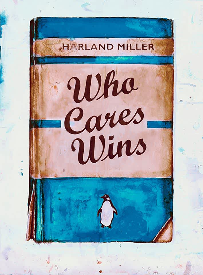 Harland Miller Who Cares Wins (NHS) Screenprint