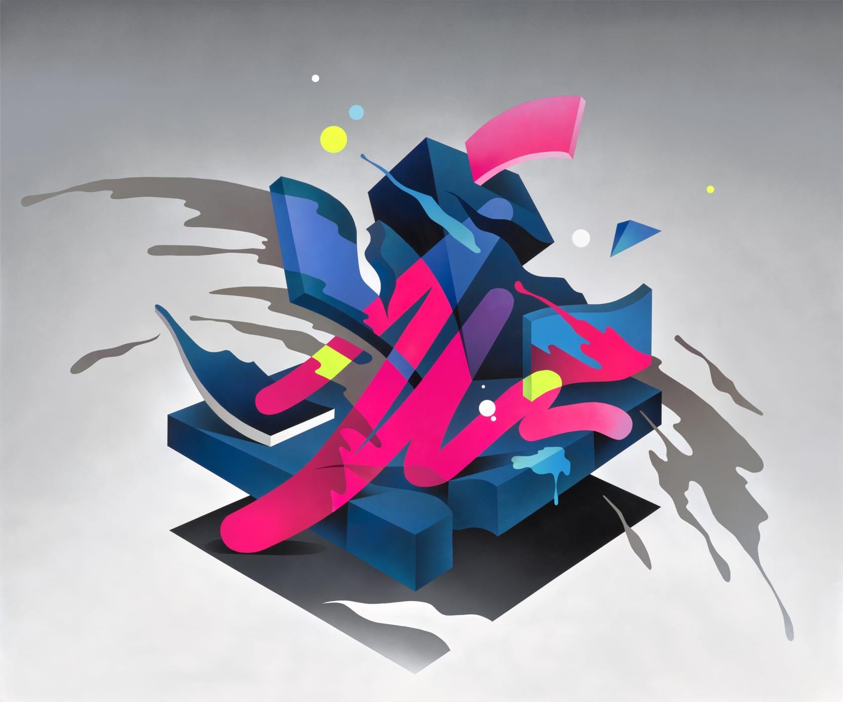 Mikael B Swing Symphony #2 Spray paint on Canvas