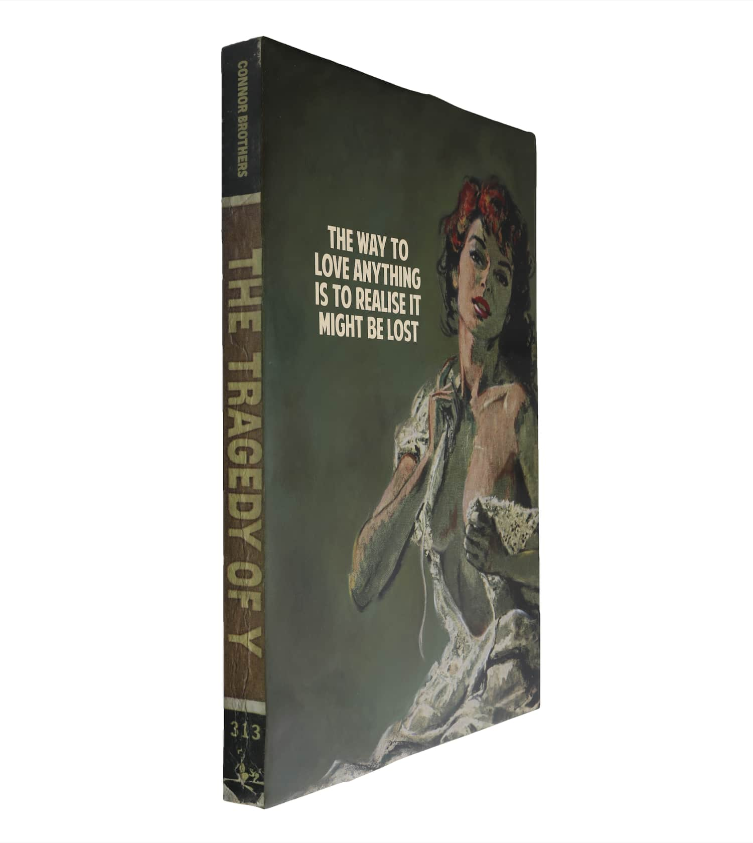 the connor brothers The Way To Love Anything Hand painted wooden book with silkscreen