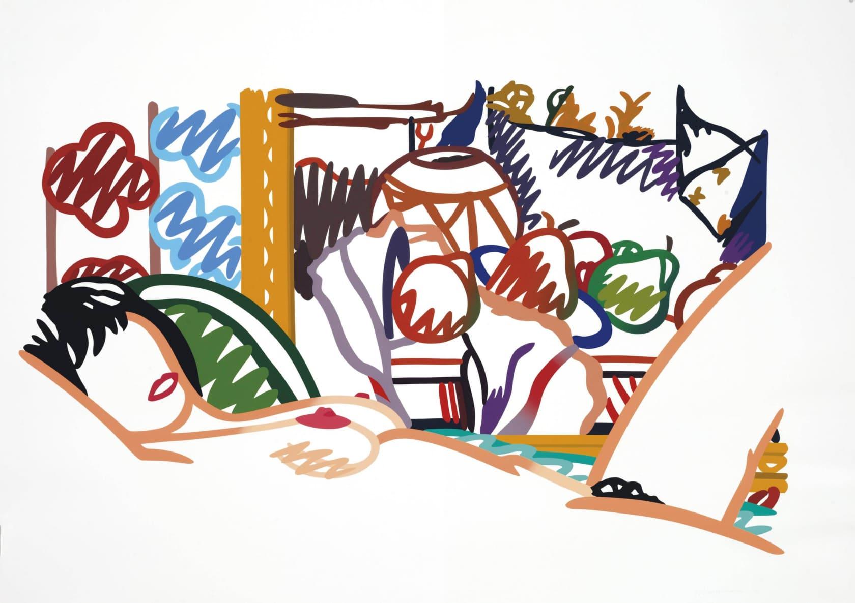 Tom Wesselmann Monica Nude With Cezanne Screenprint
