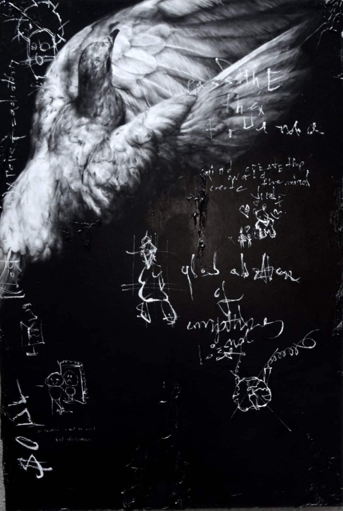 Igor Dobrowolski Pass the Trauma Oil on Canvas