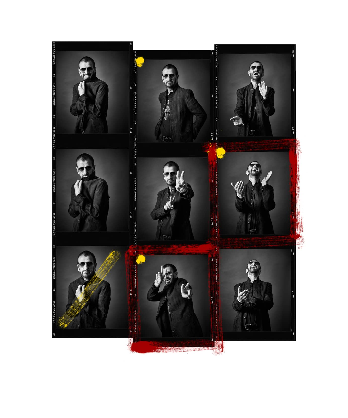 Andy Gotts Ringo Starr Contact Sheet Fine Art Giclée Archival Print