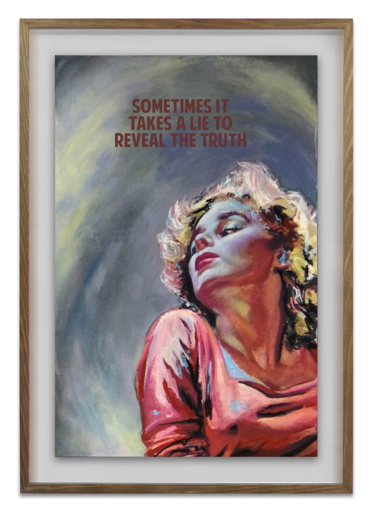 The Connor Brothers Sometimes It Takes A Lie To Reveal The Truth Giclée, Screen Print, Acrylic, Oil and Hand Applied...