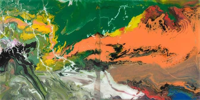 Gerhard Richter, P15 (Flow Series), 2017