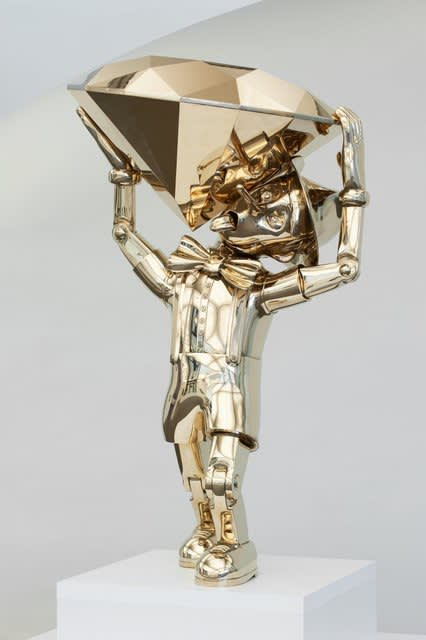 Joseph Klibansky Reflections of Truth II Polished Bronze Sculpture