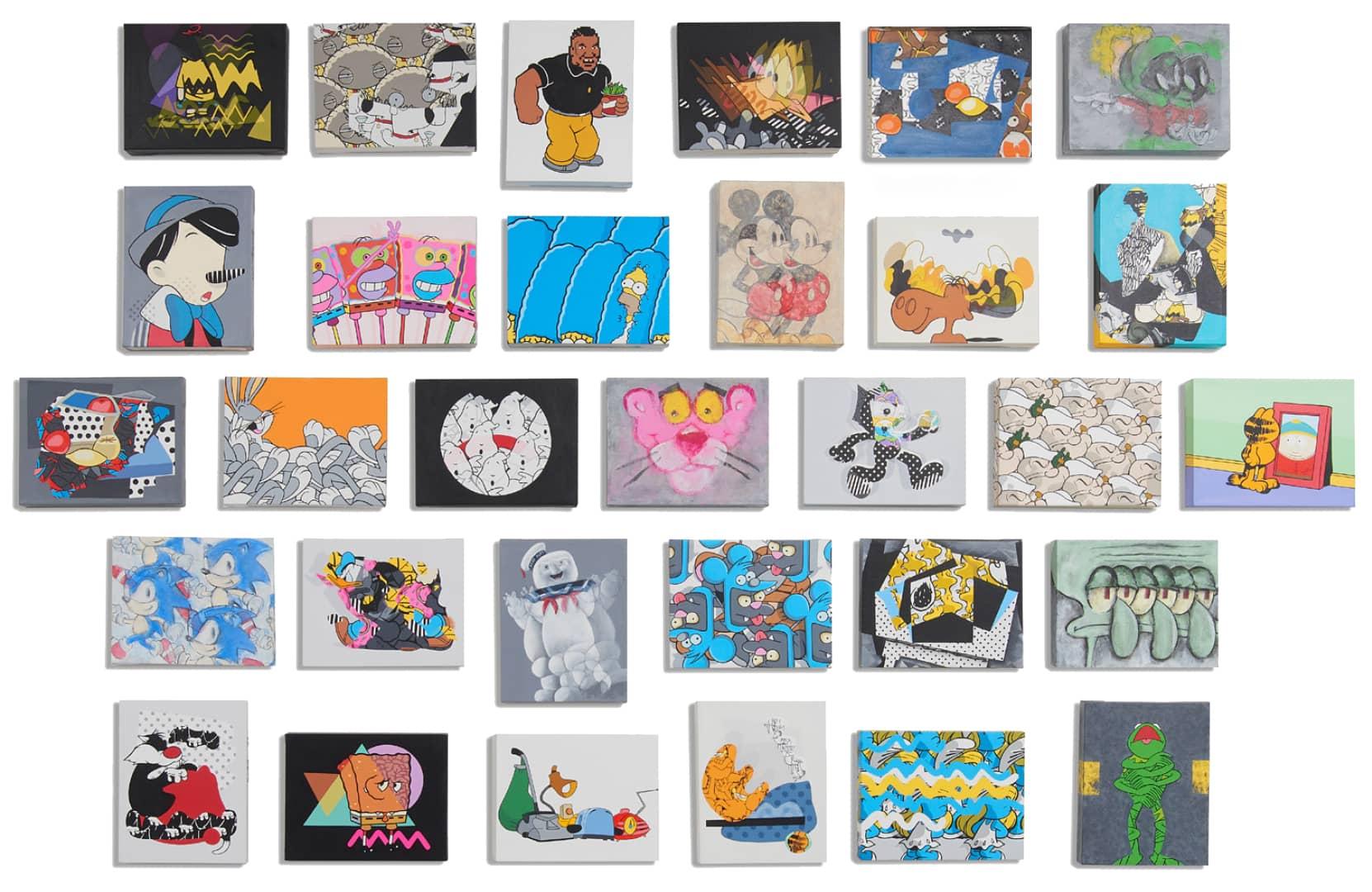 Jerkface 30 DAYS OF JERK Acrylic on Canvas