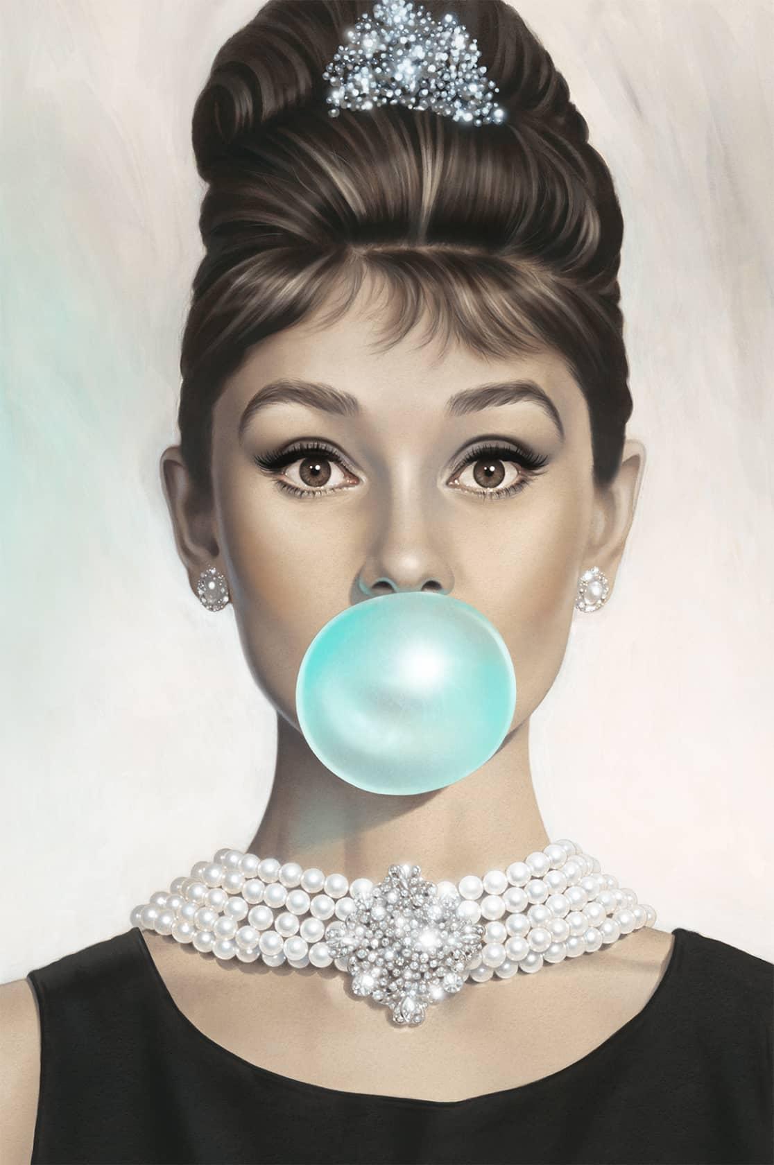Michael Moebius, Audrey Hepburn Tiffany Blue, 2017