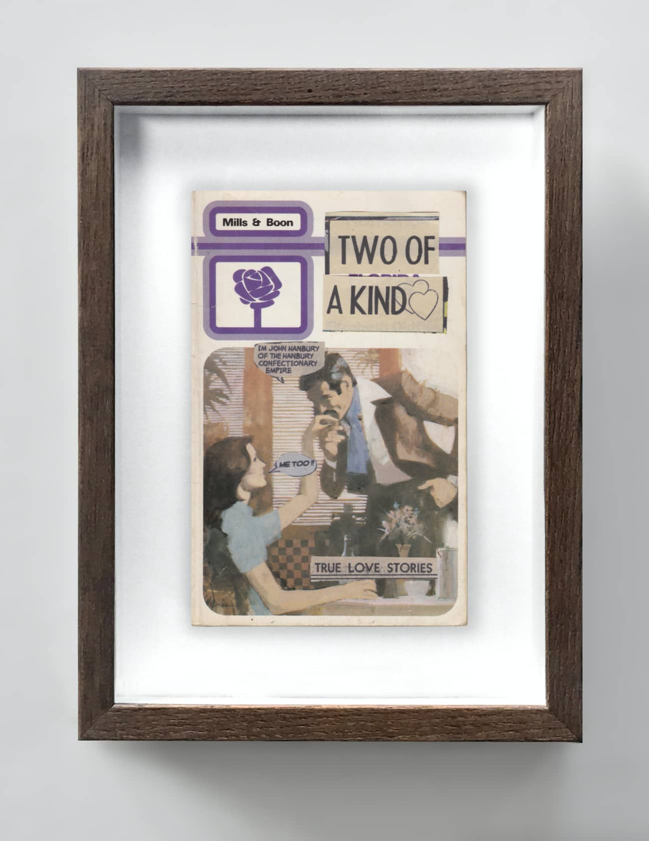 the connor brothers Two Of A Kind Collage on vintage paperback book