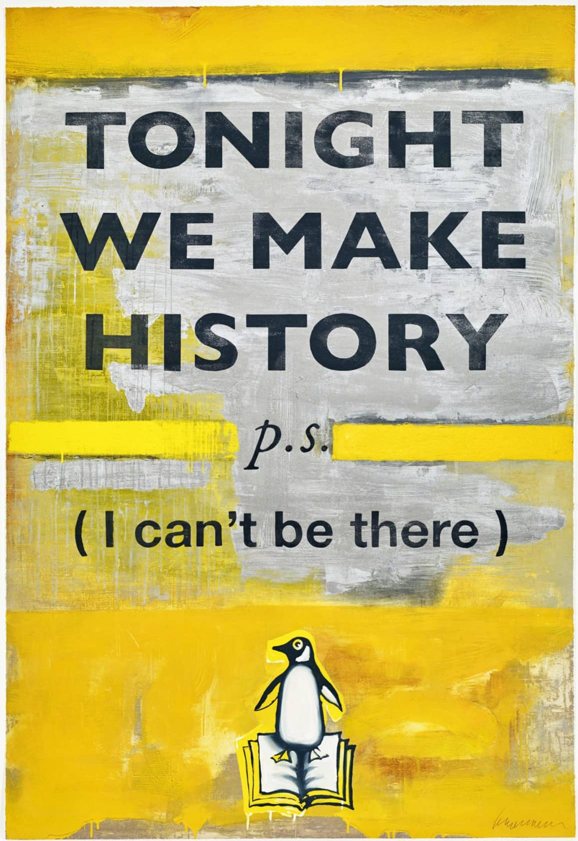Harland Miller Tonight We Make History (Small) Etching with Block Printing