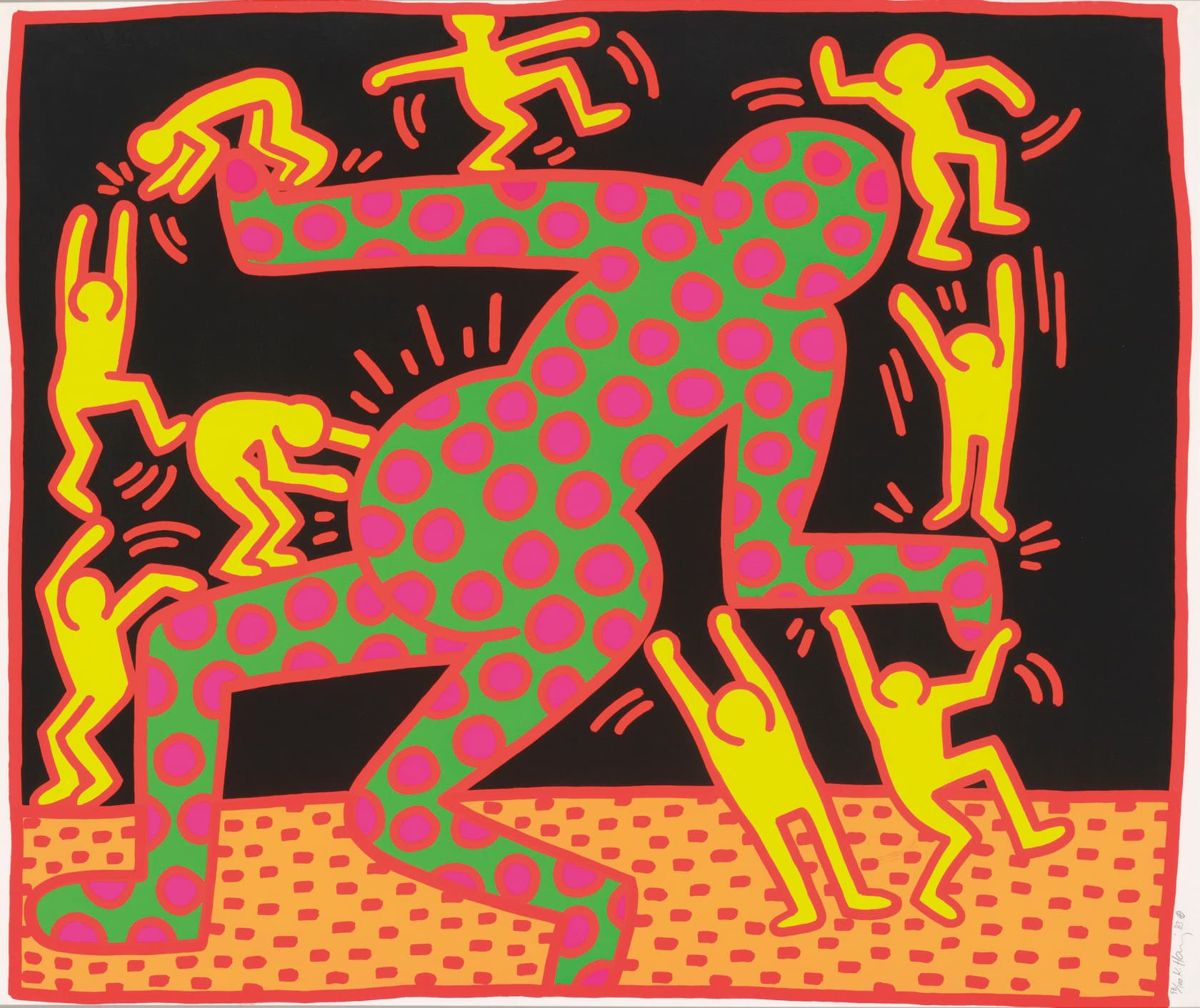 Keith Haring Fertility Suite Untitled 3 Screenprint