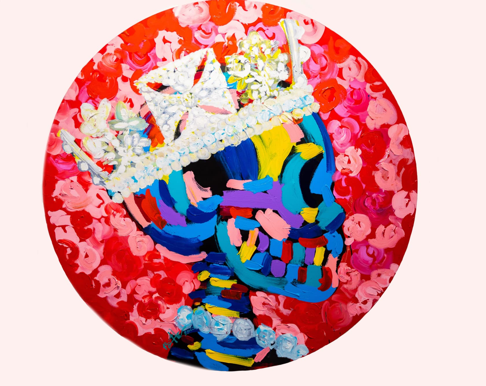 Bradley Theodore The Crown Acrylic and Oil on Canvas
