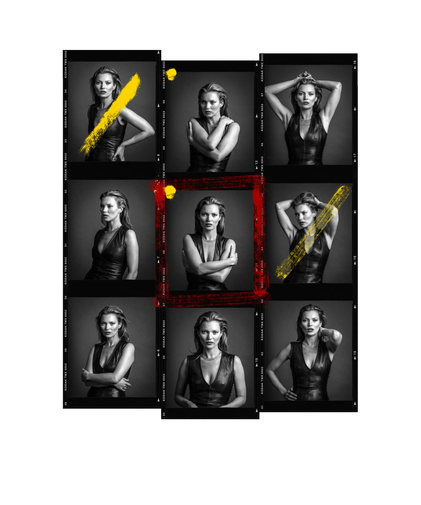 Andy Gotts Kate Moss Contact Sheet Fine Art Giclée Archival Print