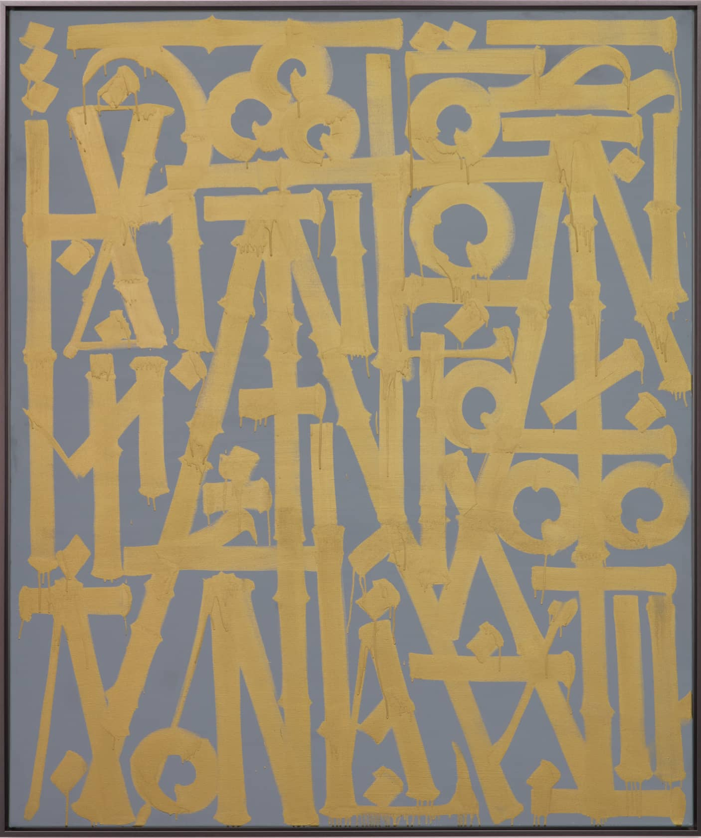 Retna De Los Cielos Hasta La Tierra Mejor Enamel and Acrylic on Canvas