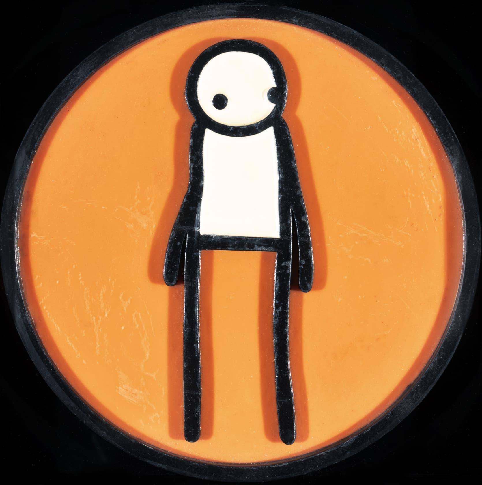 STIK, Plaque (Orange), 2011