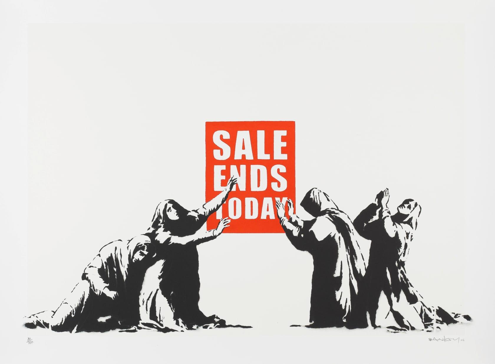 Banksy, Sale Ends V2 (Signed), 2017