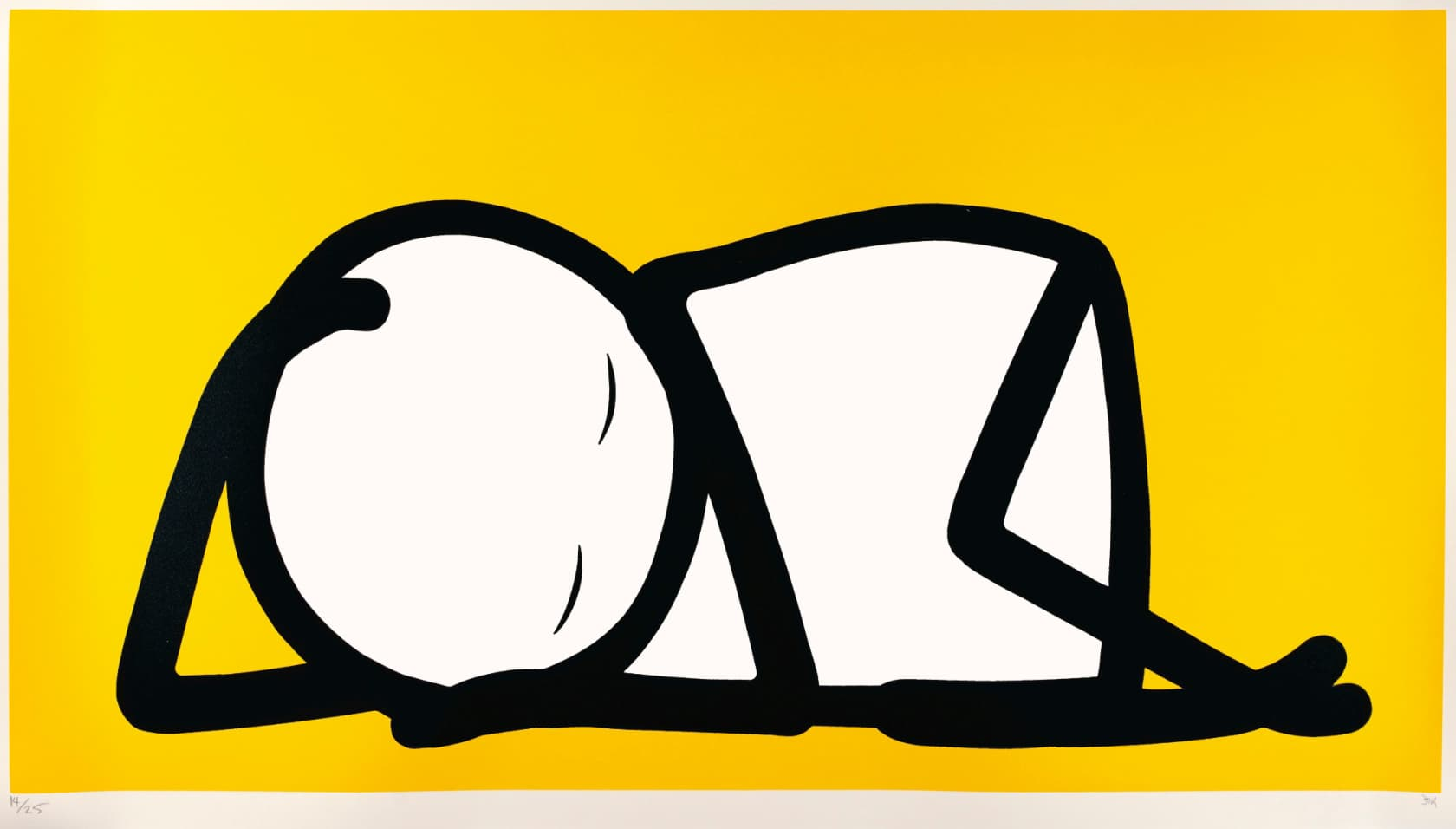 STIK Sleeping Baby Yellow Screenprint