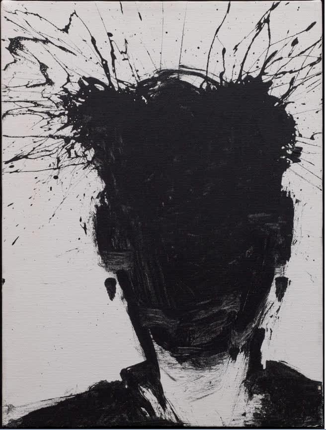 Richard Hambleton, SHADOW HEAD WITH WHITE BACKGROUND, 1992