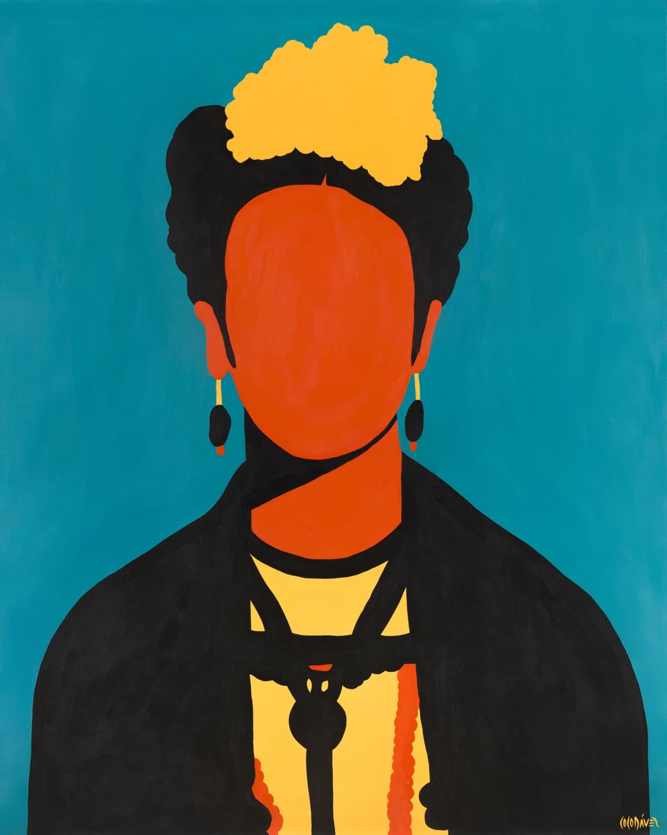 Coco Davez Frida Kahlo Acrylic on Canvas