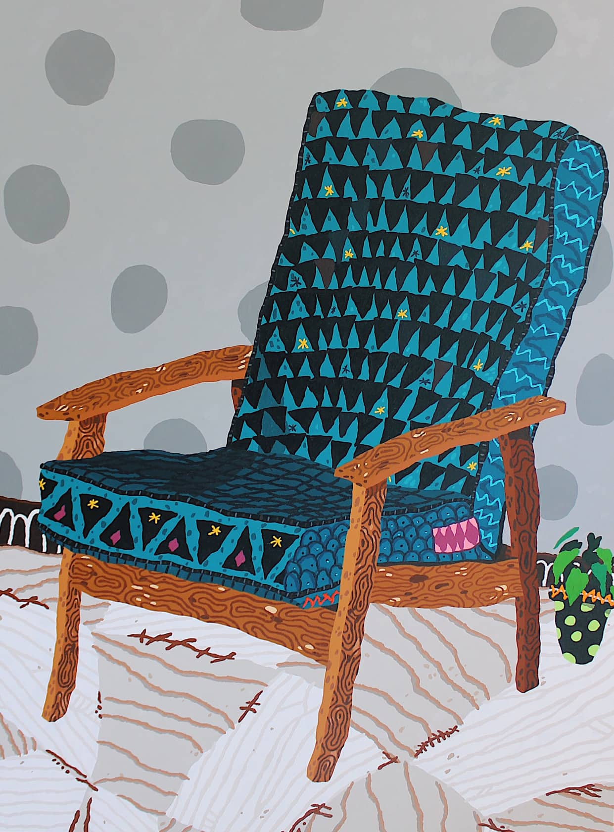 Cooper Relax Acrylic on canvas