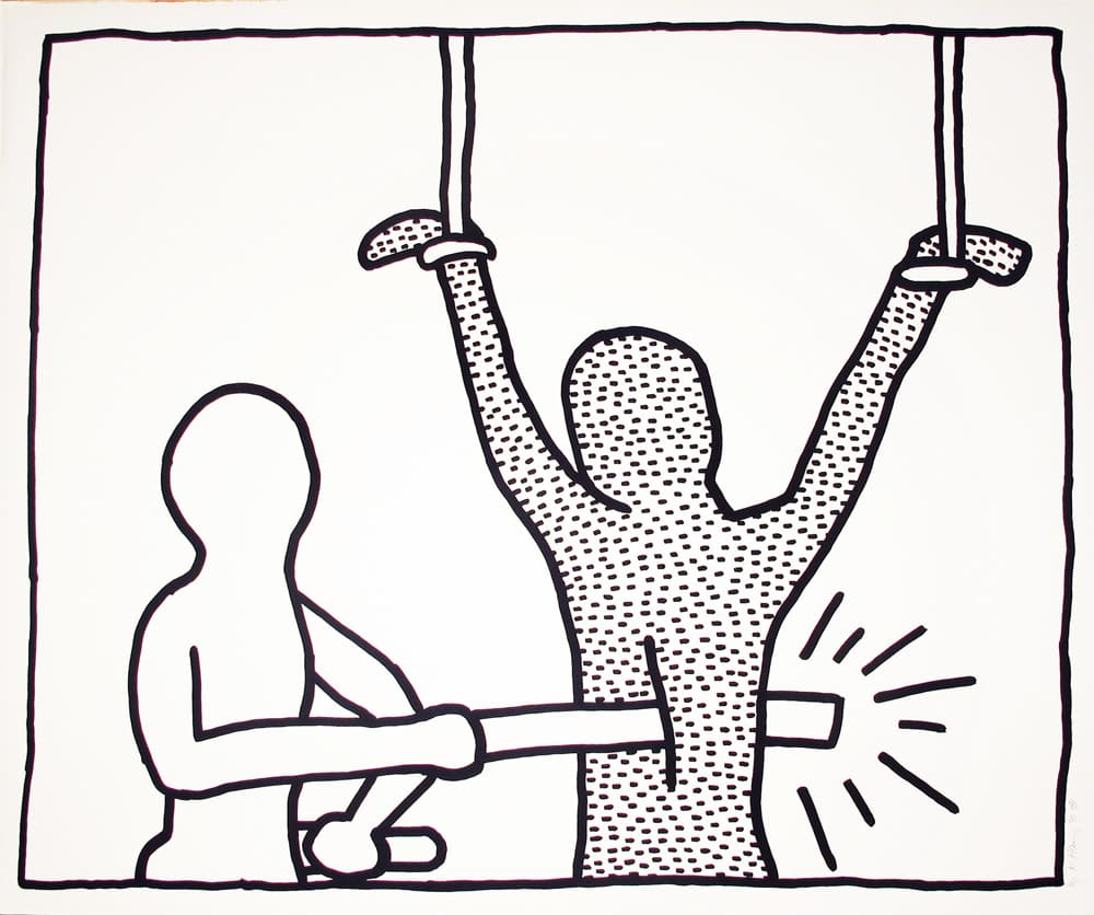 Keith Haring, The Blueprint Drawings: One Plate, 1990