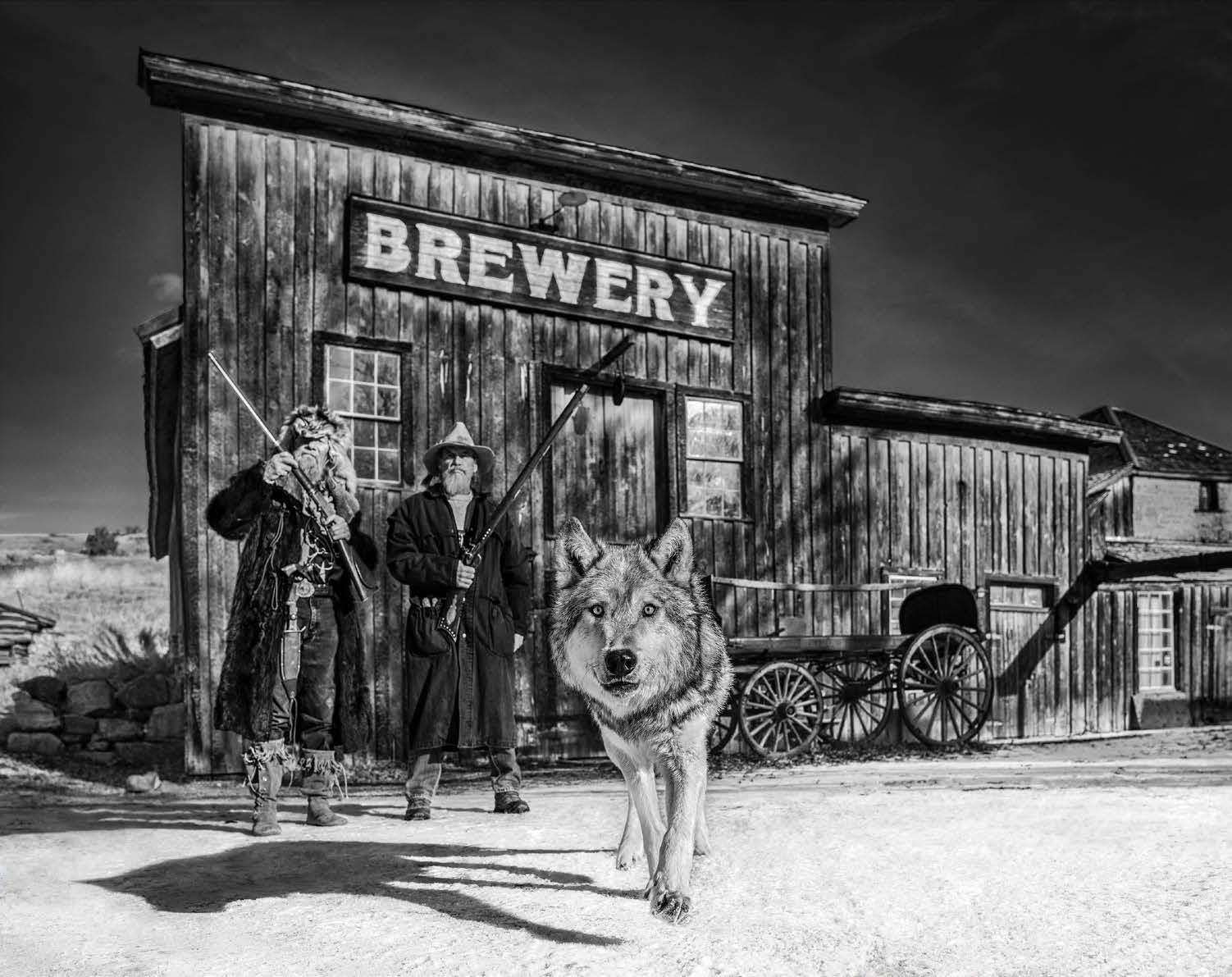 David Yarrow Something's Brewing Archival Pigment Print