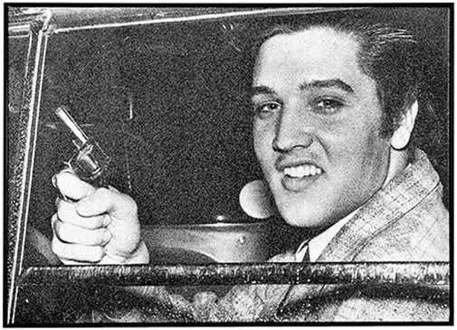 Russell Young Elvis Pistol Diamond Dust on Screen Print