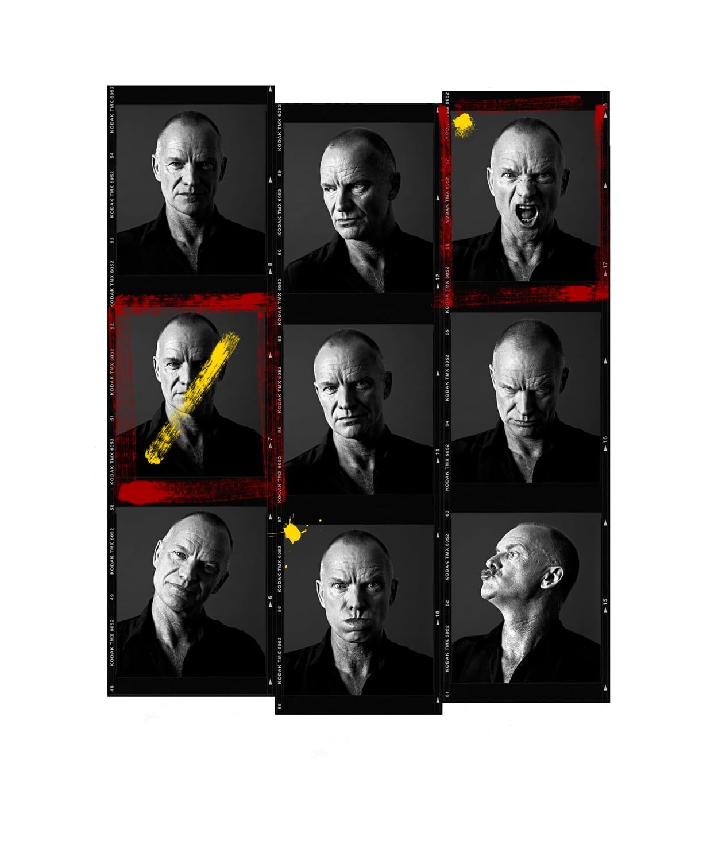 Andy Gotts Sting Contact Sheet Fine Art Giclée Archival Print