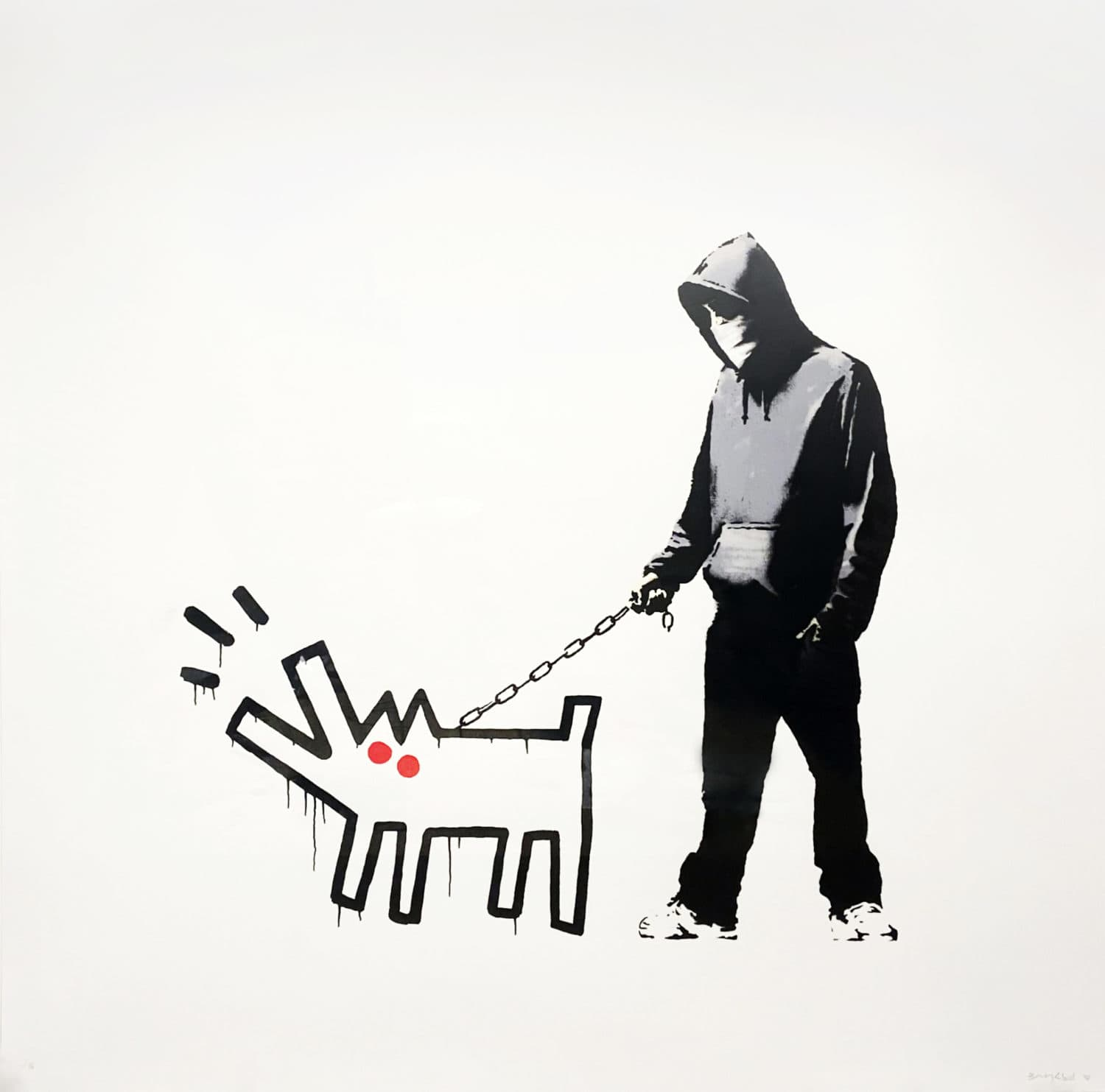 Banksy, Choose Your Weapon - white, 2010