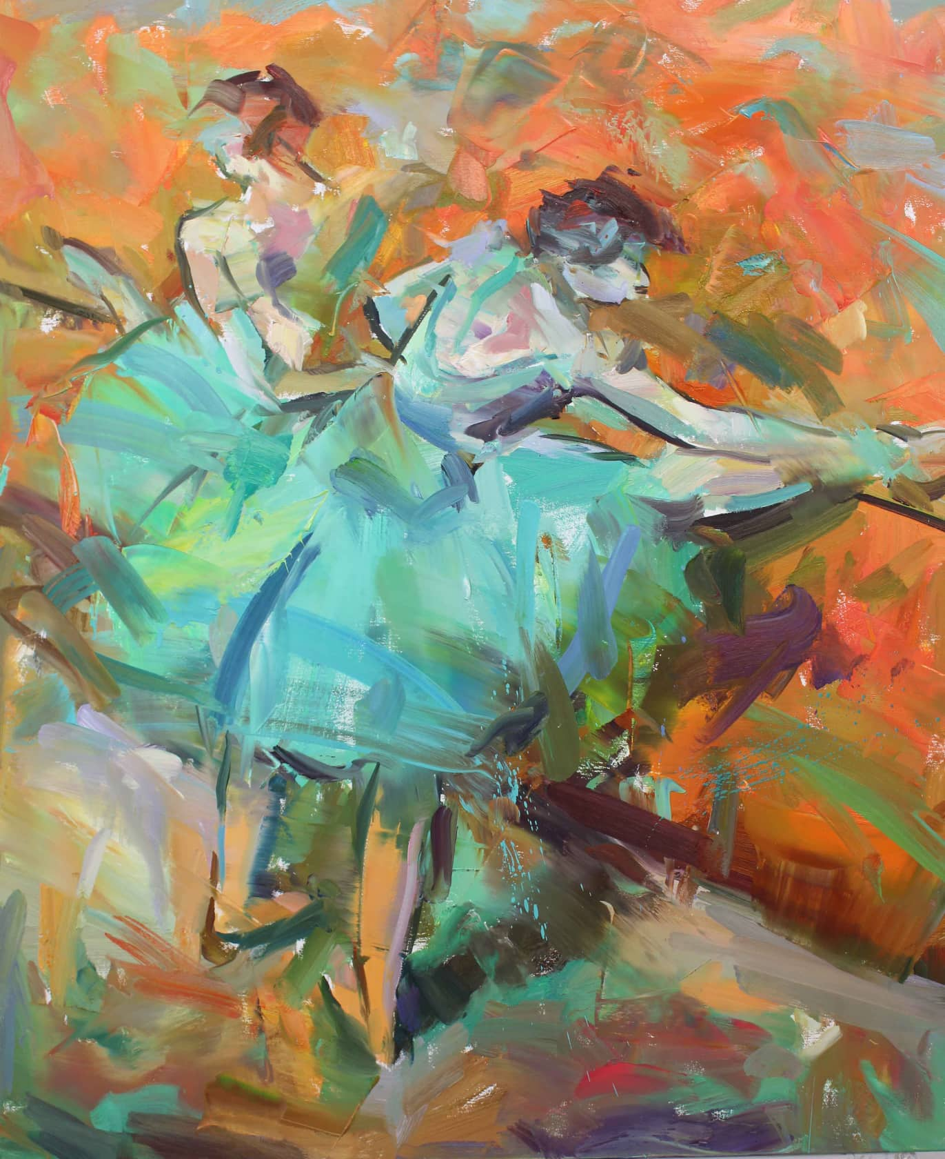 Paul Wright, Dancers at The Barre (After Degas), 2017