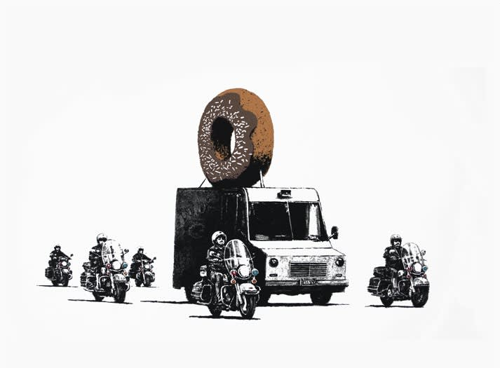 Banksy, Chocolate Donuts (Signed), 2009