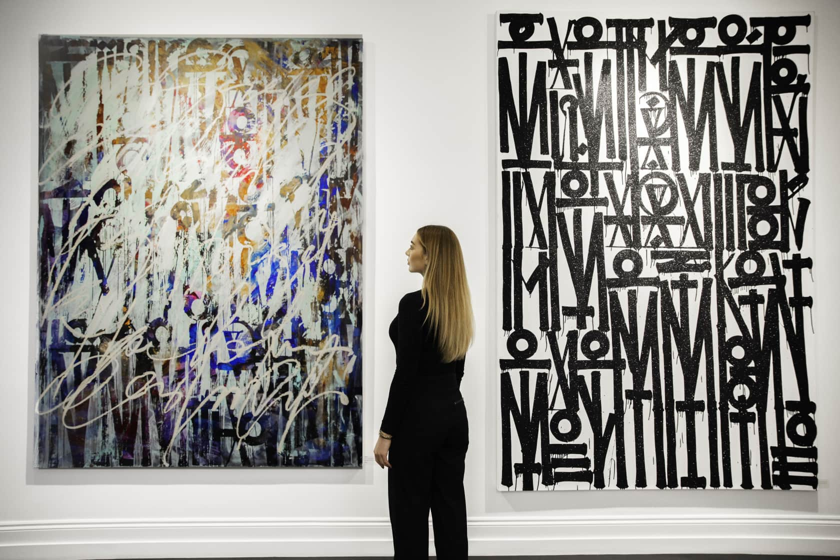 Retna This One's Been Untitled Oil Enamel and Acrylic on Canvas