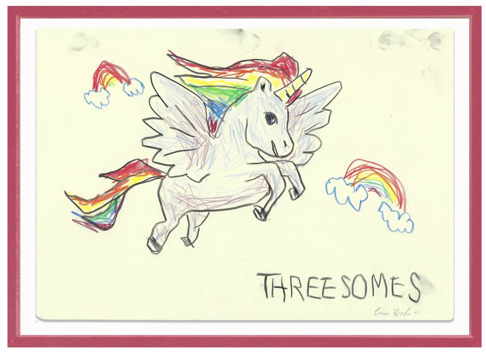the connor brothers Threesomes Crayon on paper