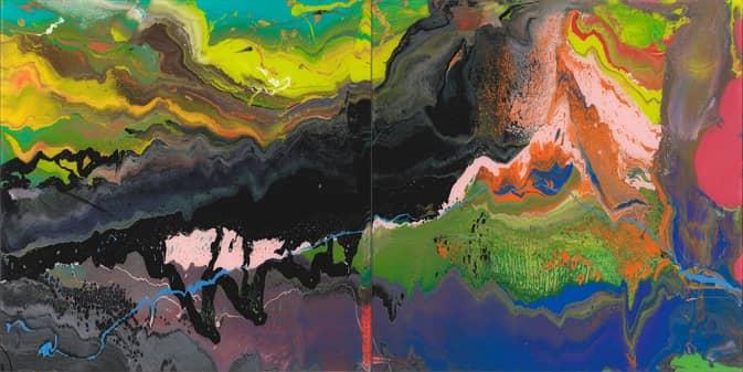 Gerhard Richter, P16 (Flow Series), 2017